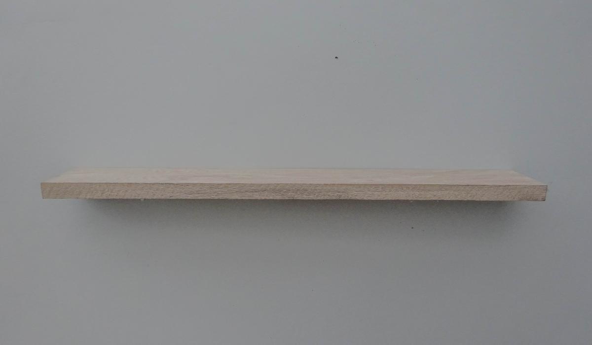 floating oak rustic shelf