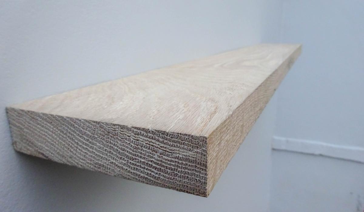 weathered rustic oak shelf